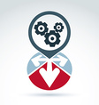 Enterprise system idea vector image