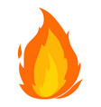 flame icon cartoon style vector image