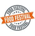 food festival round grunge ribbon stamp