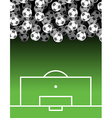 football field and Ball Lot of balls Soccer vector image vector image