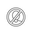 forbidden sign with man face no verification vector image vector image