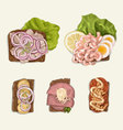 Hand drawn sandwich set vector image vector image