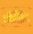 happy birthday vintage lettering logos vector image vector image