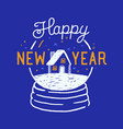 happy new year inscription written with elegant vector image