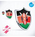 I Love Kenya Flag vector image vector image