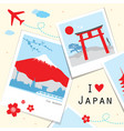 japan view travel photo frame memory vector image vector image