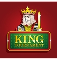 king clubs casino poker banner sign tournament vector image vector image