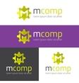m letter modern polygonal logo vector image