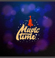 magic time typographic emblem logo vector image vector image