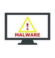 malware icon vector image vector image