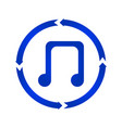 music note turn icon vector image vector image