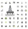 oil platform icon eco and alternative energy vector image
