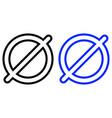 prohibition icon vector image vector image