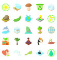 pure nature icons set cartoon style vector image vector image