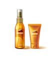 realistic sunscreen sunblock tube mockup ad vector image vector image