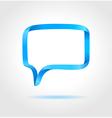 Rectangle blue speech bubble vector image vector image
