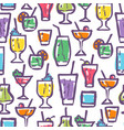 retro pattern for cocktail party vector image vector image