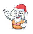 santa easter cake mascot cartoon vector image vector image