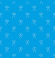 scissors pattern seamless blue vector image vector image