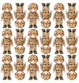 seamless background design with toy soldiers