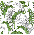 seamless pattern with plant nature motives vector image vector image