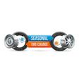 seasonal tire change vector image vector image