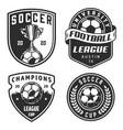 set soccer emblems vector image vector image