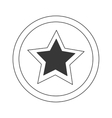 Sign and symbol star stamp vector image