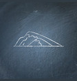 sloping hill icon on chalkboard vector image vector image