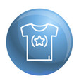star tshirt icon outline style vector image