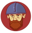 strong construction worker face vector image