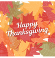 thanksgiving card with background autumn leaves vector image
