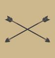 vintage design crossed hand drawn bow arrows vector image vector image