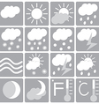 weather icon set white and gray vector image