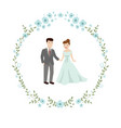 wedding couple bride and groom wedding couple vector image vector image