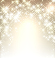 Winter starry christmas background vector image