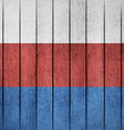 Wooden Grunge Flag Of Russia vector image vector image