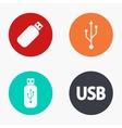 modern usb colorful icons set vector image