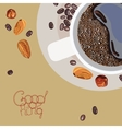 with the image of a cup of coffee and vector image