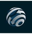 Abstract Globe Logo Element vector image