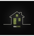 house design background vector image