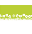 seamless four leafed clover background vector image