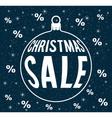 christmas sale vector image