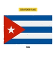 Cuban grunge flag with little scratches on surface vector image