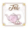 tea culture concept vector image