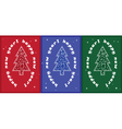 3 christmas tree card vector image