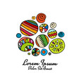 abstract circle design element colorful vector image vector image
