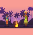 african man and woman in traditional tribal ethnic vector image