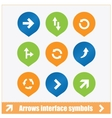 arrows interface symbols set vector image vector image