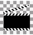 art Film clapper board icon vector image